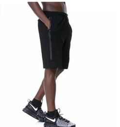 Wholesale Xl Tech - Tech Fleece Sport Shorts N Zipper pocket Sport pants casual pants Grey Black S-XL