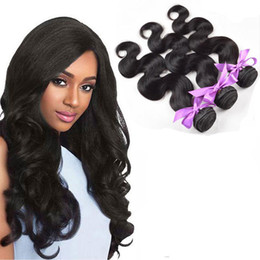 Wholesale Loose Deep Hair Extensions - Unprocessed Brazilian Peruvian Indian Malaysian Hair Weft 8A Human Hair Straight Body Wave Loose Deep Wave Kinky Curly Hair Extensions