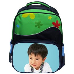 Wholesale Backpack Pictures - custom schoolbag for kids girl boy sublimation bags with your kids custom photo or design picture or text names retail only one pcs