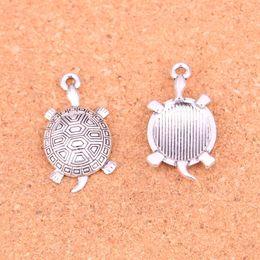silver plate turtle charms wholesale Australia - wholesale 274pcs lot Tibetan Silver Plated tortoise turtle sea Charms Pendants for Jewelry Making DIY Handmade Craft 34*28mm