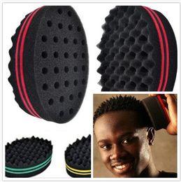 herramienta de elipse Rebajas 100pcs esponja cepillos de pelo peluquero crean peinados para el pelo corto Curl Wave elipse lados mágicos esponja para negros herramienta de peinado X093