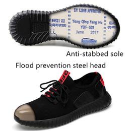 herrenmode sicherheitsstiefel Rabatt Mens Mode große Größe Stahl Zehe deckt Arbeit Sicherheit Schuhe atmungsaktive Sommer Anti-Punktion Tooling niedrige Stiefel schützen Schuhe