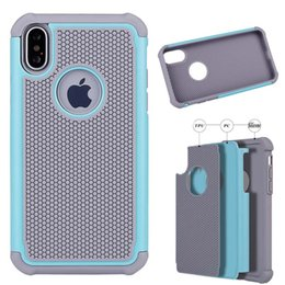 Wholesale Tpu Rubber Iphone Case - For iPhone X Hybrid 3 In 1 Rugged Case Impact Rubber Matte Shockproof Heavy Hard Case For iPhone 8 7 6 Plus 5 5s