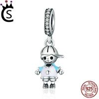 Wholesale boy charms sterling silver - Pandora Charms 2018 New 100% 925 Sterling Silver Couple Little Girl & Boy Pendant Charm fit Girls Charm Bracelet DIY Jewelry