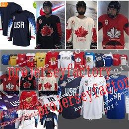 Wholesale Germany Black Jerseys - 2018 Winter Olympics Hockey Jersey USA Russia Korer Japan Czech Republic Sweden Germany Finland Slovensko Custom Ice Hockey Jerseys