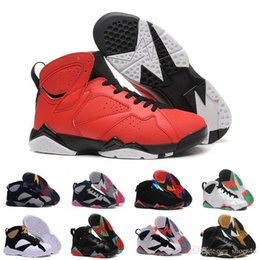 Wholesale online french - [With Box]Cheap 7 French blue basketball shoes Raptor Hares Bordeaux Olympic sport sneaker shoes,For online hot sale us size 8-13