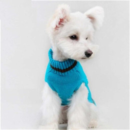 Eulen-weihnachts-pullover online-Haustier Hund Pullover Winter warme Weihnachten Kleidung Kostüm Bunte Eulen Nettes Kostüm Smal große Hunde Acryl Schneeflocke Kleidung