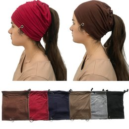 Fashion 6 Colors Cotton Women Beanies with Ring Heaband Girls Brand Fitted  Hat Luxury Polo Hats Skull Caps Bucket Hats. Supplier  ficoco 67f8cbcc0df1