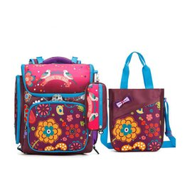 Wholesale Nylon Bird - 2017 children Waterproof nylon school bag 3pcs set brand cartoon flowers and birds pattern school bags for girls kids backpack