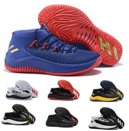 Wholesale China Athletic Shoes - Hot Basketball Shoes Sneakers D Lillard 4 Dame 4s Rip City Red Un-Dyed Signature Men Man Athletics Sports China Brand Tennis Trainers Shoe