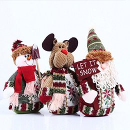 Wholesale Christmas Santa Figurines - Lovely Santa Claus Snowman Deer Christmas Tree Decoration Ornament Pendant Gift