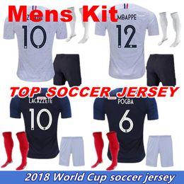 Wholesale Cupping Equipment - Maillot de Foot enfant world cup football kids equipment ZIDANE Equipe de france 2018 boys football kits francia Soccer Jerseys +socks