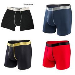 Wholesale Black Men Boxers - Saxx Underwear Platinum Boxer Brief with Fly - 4 colors -saxx underwear men boxer&North American Size- 95%MODAL , 5%SPANDEX