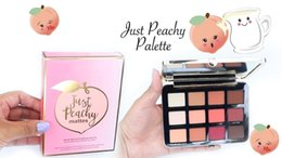 glow glitter Coupons - New Arrivals Just Peachy Mattes Eyeshadow Palette Sweet Peach Blush Glow Kit Retail Matte And Glitter Finish Free Shipping Eye Shadow