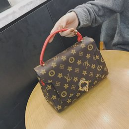 Wholesale Handbag Fashion Big Brand - 2017 Ladies Hand Bags Famous Brand Handbags Women Fashion Black Leather pochette Shoulder Bag Women Big Bags Purse