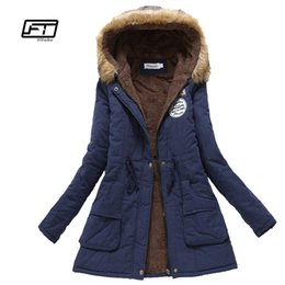 fce399b8d2943 new winter military coats women cotton wadded hooded jacket medium-long  casual parka thickness plus size XXXL quilt snow outwear Y18101702