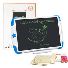2019 12 comprimidos Tableta de escritura LCD de 12 pulgadas Bloqueo de pantalla Tableta digital de dibujo Tabletas de escritura electrónica Tabletas de gráficos electrónicos Tablero para adultos Niños Niños 12 comprimidos baratos