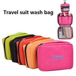 Wholesale Business Suits Wholesale - Travel suit wash bag Waterproof and portable make-up bag storage bag Business travel Tourist goods T4H0397