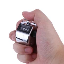 Contador de contagem de mão de metal on-line-Contadores de contagem de mão de metal de 2018 Contadores de Mini esporte Contador de contagem de mão de número de dígito de golfe de 4 dígitos Clicker