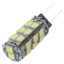 Wholesale G4 Bulb Pure White 12v - CSS 5pcs G4 26 SMD LED Pure White RC Marine Light Camper Spotlight Bulbs Lamp 12V 2W