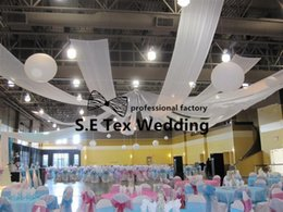 Wholesale Cheap Decorations For Weddings - Cheap Price 70cm Wide Luxury Wedding Roof Drape Fabric Canopy Drapery Decoration For Wedding Event