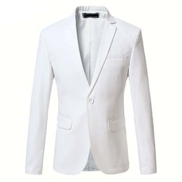 3d2af91175fe3 Plus Size 6XL Solid Color Blazer For Men Brand-clothing Suit Blazer Slim  Fit Masculine Blazer Mens Dress Coat