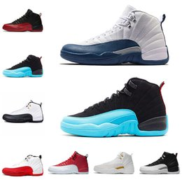 Wholesale good basket - new good Quality 12s shoes OVO white Gym Red Wool Taxi Basketball Shoes Men Women 12s Flu Game Black Nylon PSNY Sneakers size 41-47