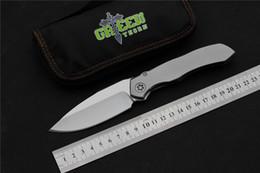 Argentina Espina verde cuchillo de camping plegable S35VN hoja Aleación de titanio mango mejor bolsillo de caza Cuchillos EDC herramientas de mano cheap best titanium hunting knife Suministro