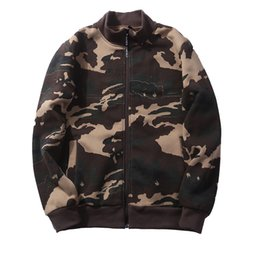 Wholesale Warm Sweaters Men - New winter men's sweater cardigan sweater men fashion warm high quality camouflage coat