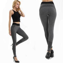 Leotardos largos chica moda medias online-2018 Chica de moda Tight Sportwear Niza Leggings alto elástico mujeres mujeres delgadas deportes pantalones de yoga de fitness correr pantalones largos legging