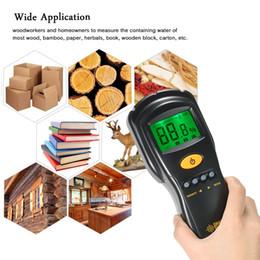 medidor húmedo Rebajas SMART SENSOR Medidor de humedad de madera profesional Mini LCD Medidor de humedad de madera digital Medidor de humedad Detector de humedad Rango del probador 2-70%
