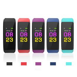 color lcd reloj Rebajas Pantalla LCD a color original ID115 Plus Pulsera inteligente Fitness Tracker Podómetro Banda de ritmo cardíaco Pulsera inteligente OTH915