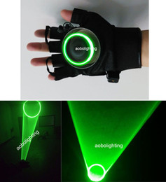 Wholesale Right Handed Glove - New 532nm Green Laser Gloves Vortex Effect Stage Laser lights Chargable DJ Party lighting left or right hand