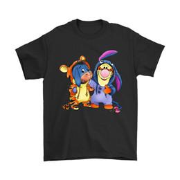 Os melhores amigos trocam trajes Tigger e Eeyore Camiseta de