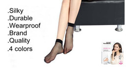 Wholesale Ankle High Hosiery - High Quality Women's Ladies Nylon Ankle Elastic Short Socks Stockings Casual Low Cut Transparent Sheer Socks Hosiery Summer