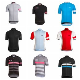 Wholesale Mountain Shirts - Men RAPHA Summer Cycling Jersey Short Sleeve Jersey Bicycle Bike Jersey Cycling Clothing Road Mountain Riding Mtb T shirt Male D0905
