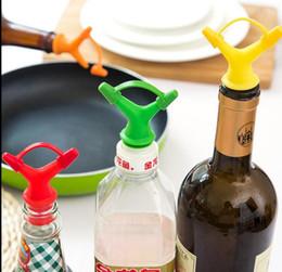 Wholesale Oil Bottle Stoppers - Double Head Sauce Oil Bottle Mouth Stopper Liquid Pourer Kitchen Tool Oil Bottle Mouth Stopper Bottles Nozzle Caps KKA3798