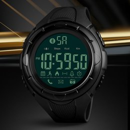 Wholesale Man Bluetooth Watch - SKMEI Brand Bluetooth Smart Watch For Apple IOS Android Digital Smartwatch 50M Waterproof Fashion Pedometer Sport Watch For Men