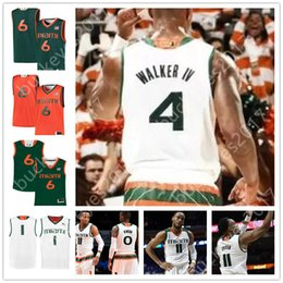 Custom Miami Hurricanes Stitched Any Name Number Green White College  Basketball Jerseys  4 Lonnie Walker IV 11 Bruce Brown Jr. 6 Dewan Huell ce52cc4b7