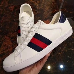 Wholesale Ladies Embroidered - New men Womens Fashion White Leather Luxury tiger Cock Love Flower Embroidered Flat Casual Shoes Lady Red Green Shoes Size 35-45