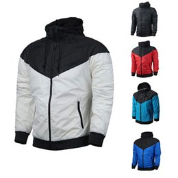 Wholesale plus size women outerwear - Brand Designer Mens Coat Sweatshirt Hoodie Women Jacket Long Sleeve Spring Sportswear Zipper Windcheater Plus Size Outerwear With Logo