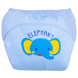 Wholesale underwear elephant - 1Pcs Cotton Baby Training Pants Reusable Diapers Nappy Changing Kids Underwear Children Diaper 80 yards Blue elephant