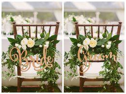 Zeichen fotos online-Braut und Bräutigam Stuhl Zeichen, rustikale Hochzeit Holzstuhl Zeichen, Holzschilder, Foto Requisiten, Hochzeitsdekoration, 2 teile / los