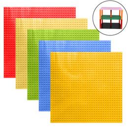 """Argentina Envío gratis doble placa base lateral para pequeños ladrillos placas de base 32 * 32 puntos 10 """"* 10"""" bloques de construcción de bricolaje compatibles con los bloques de marcas principales Suministro"""