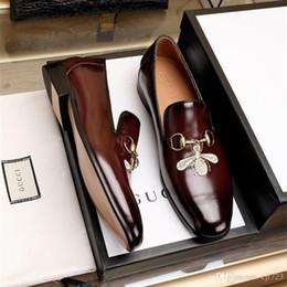 Zapatos de cuero genuino italiano online-Zapatos de cuero genuino de los hombres zapatos de los holgazanes de los zapatos casuales de lujo en italiano diseñador de la marca zapatos de vestir masculinos flattie zapato casual Tamaño 38-45