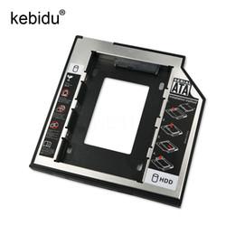 2019 sata dvd adapter Kebidu 2nd HD SATA-Festplattenlaufwerk HDD Caddy Adapter Laufwerkschacht 2.5 2. 9,5 mm Ssd für CD-ROM-ROM Optical Bay rabatt sata dvd adapter