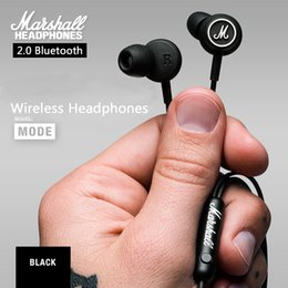 Wholesale Headphones For Mp3 Player - 2017 For Marshall MODE With microphone earphones In-ear headphones for iphone HTC MP3 MP4 music Player HD HIFI headset Free shipping