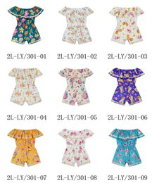 Wholesale Toddler Girls Bubble Romper - New Baby Girl Romper Infant Unicorn Summer Newborn Jumpsuit Ruffles Sleeve Clothes Bubble Toddler Floral Girls babies Rompers Roupas 530