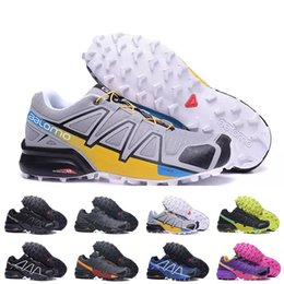 Wholesale Solomon Women - New Outlet UK Zapatillas Speedcross 4 CS Trail Running Shoes man and women Lightweight Sneakers Navy Solomon III Zapatos Athletic Shoes