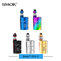Wholesale Triple Batteries - Original SMOK T-Priv 3 Kit 300W Mod With TFV12 Prince Tank V12 Prince Q4 T10 Coils Powered by Triple 18650 Batteries